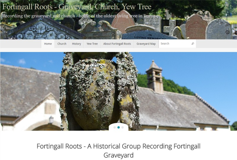 Community Map Website - Fortingall Graveyard